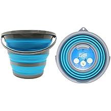 Seau portatif pliable pour usage domestique - capacité de stockage d'eau jusqu' à 10 litres - Idéal pour le nettoyage de la maison, les activités extérieures, la pêche et le camping.