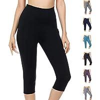 WateLves Legging pour Femme Pantalon de Yoga Gym 3 4 Taille Haute Capri  Course à 107c5cc7db7