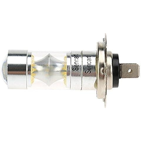 XIE@2pcs 100W 12V-24V H7 PX26D 20 * bombilla de la lámpara LED 2200LM de 6500 K coche Faro niebla