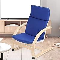 Mecedora manta para niños, sillón para niños, silla para el tiempo libre, madera curvada + esponja + paño, cojines desmontables de tela de algodón, 63 x 50 x 43,5 cm