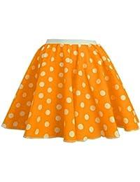 Adultos Polka dot falda de Rock N Roll 50/60de estilo con cuello corbata 17diferentes colores 21cm de largo