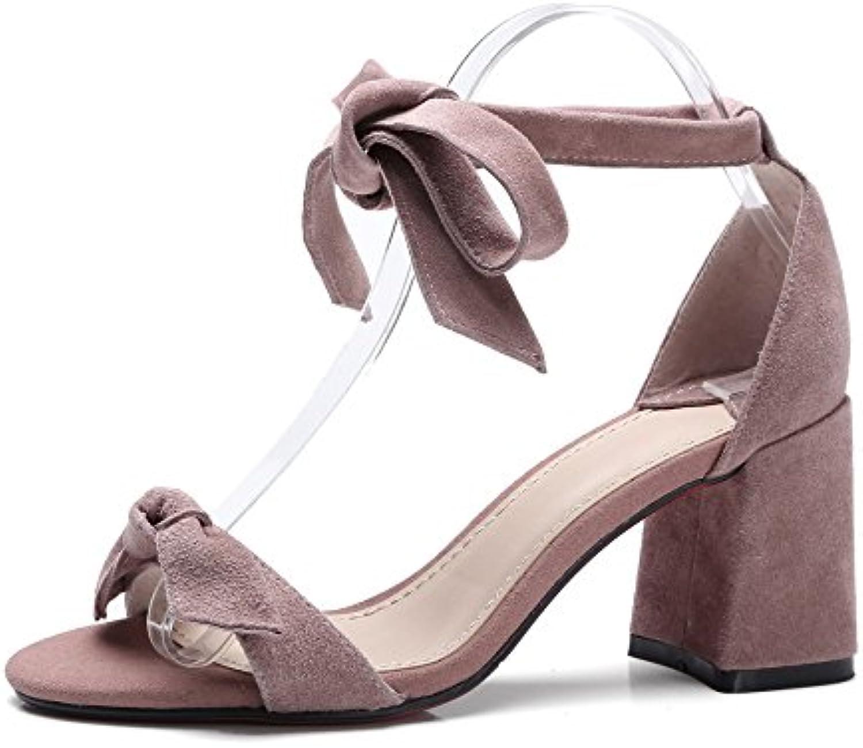6ffd06693d2b Koyi 2018 Summer New Female Sandals Sandals Sandals Open Toe Thick High Heel  Bandage Bow Tie