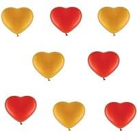50palloncini cuore Je 25Rosso 25Oro Metallizzato–ca. Ø 30cm–50pezzi–Colori Oro E ROSSO–heliumgeeignet–palloncini cuore–Top qualità–twist4®