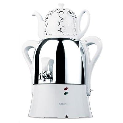 Korkmaz a342 caykolik semaver samovar teemaschine caydanlik théière pour thé blanc