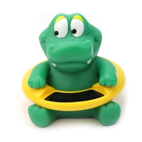 RHX Krokodil-Badespielzeug für Babys, digitales Thermometer zur Messung der Wassertemperatur