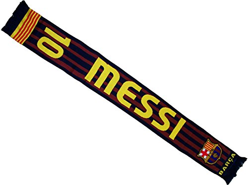 Lionel Messi bufanda - FC Barcelona colección oficial - Liga Española de Fútbol