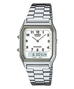 Casio Collection – Unisex Analogue/Digital Watch with Stainless Steel Bracelet – AQ-230A-7BMQYES