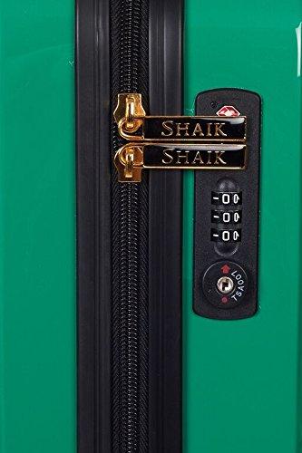 Shaik 7203085 Trolley Koffer, 2er Set (L, XL), grün -