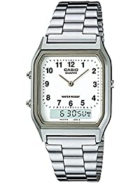 Casio Collection – Reloj Unisex Analógico/Digital con Correa de Acero Inoxidable – AQ-230A-7BMQYES