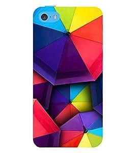 MULTICOLOURED TRADITIONAL UBBRELLA PATTERN 3D Hard Polycarbonate Designer Back Case Cover for Apple iPhone 5C