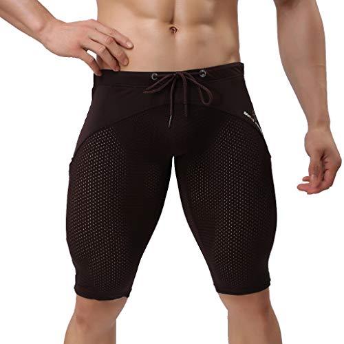 ODRD Männer Shorts Yoga Hosen Herren Pants Männer Hawaiian Trunks Trocknen Schnell Strand Surfen Laufen Badehose Swimwear Sweathose Jogging Trainingshose Sweatpants Hose JoggerSport