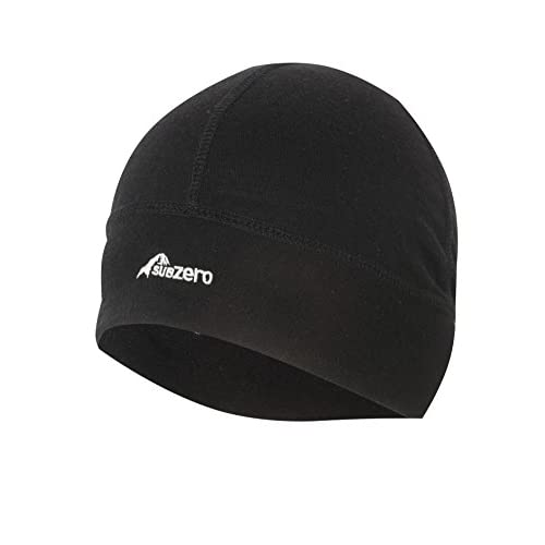 41I 0akFbaL. SS500  - SUB ZERO Lightweight Thermal Insulating Warm Stretchy Merino Wool Winter Beanie Hat Black One Size