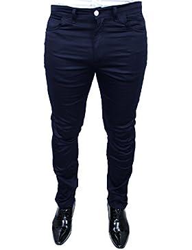 Pantalón hombre Sartoriale Cristiano Battistini Jeans azul oscuro tarado Tallas Fuertes Casual Elegante 100% Made...