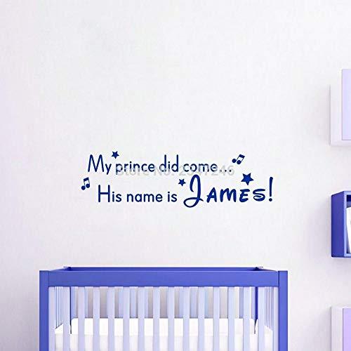 iniertePrinz oder Prinzessin personalisierte BabyName kreativeDIY wandaufkleber Vinyl aufkleberfürKinder schlafzimmerdekoration16 * 56 cm ()