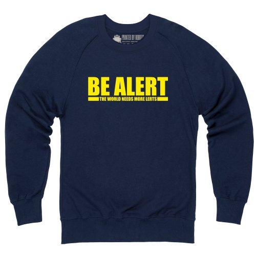 Shotdeadinthehead Be Alert Sweatshirt mit Rundhals, Herren, Dunkelblau, XL -