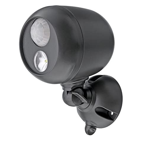 Mr. Beams MB360 Wireless Weatherproof Battery Operated 140 Lumens LED Spotlight with Motion Sensor and Photocell, Dark Brown
