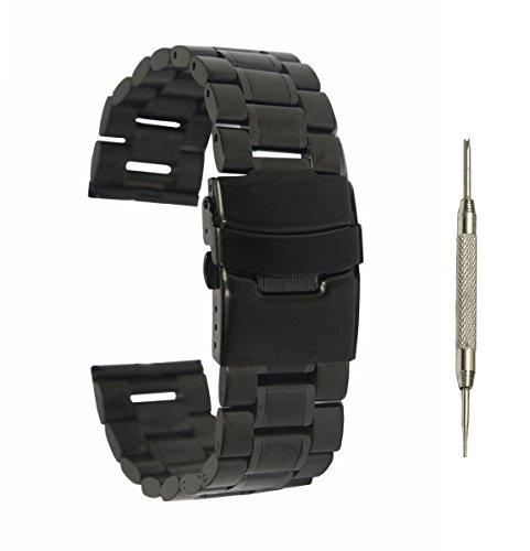 22mm-edelstahl-uhrenarmband-bandbugel-werkzeug-stift-fur-pebble-time-pebble-time-steel-schwarz-b