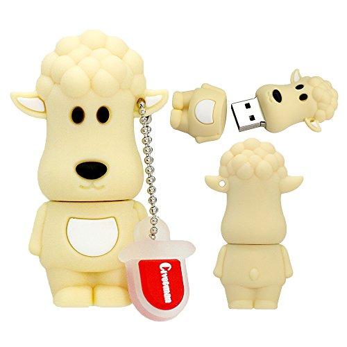 64GB USB 2.0 Flash Drive Cartoon 12 Chinesisches Sternzeichen Tier Schafe Form Pendrive Memory Stick Stick Thumb Stick Pendrive