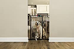 Carlson Pet Products Gate With Pet Door, Black, Extra Tall