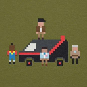 NERDO - The Pixel Team - Herren T-Shirt Oliv