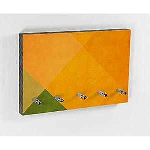 Schlüsselbrett | Orange | Fruit Colors | 5 Haken | Bunt | Schönes Muster | Moderner Style | Wohntrend | Hakenleiste | Wohnen mit Farbe