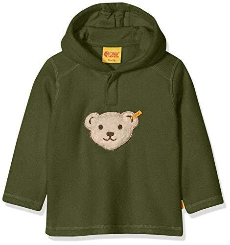 Steiff Baby - Jungen Sweatshirt 1/1 Arm Fleece Sweatshirt, per Pack Grün (Bronze Green Oliv 5760), 62 (Herstellergröße: 62) -