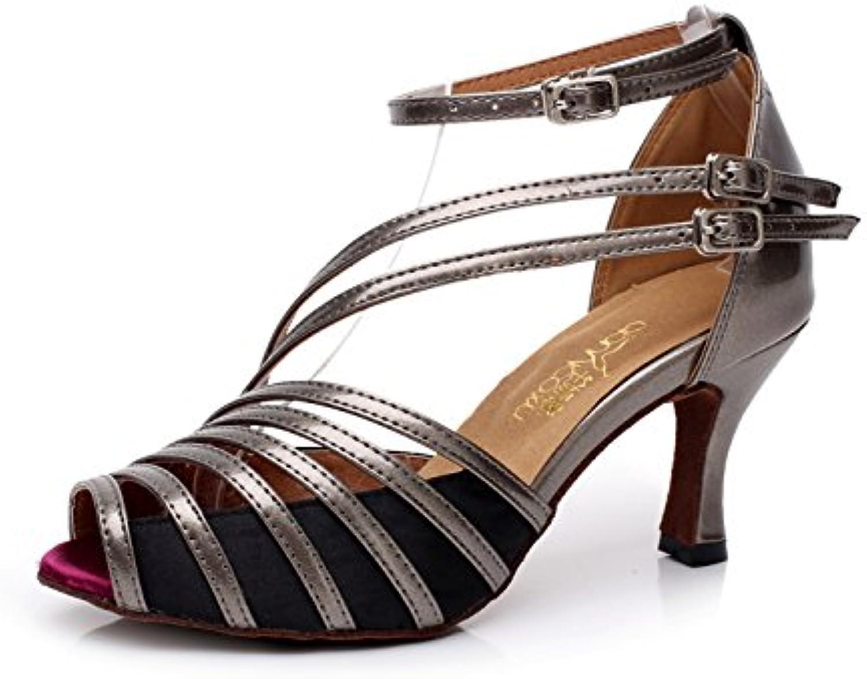 600d7c9e64277 JSHOE Women s PU Latin Salsa Dance Dance Dance Shoes  Salsa Tango Tea Samba Modern Jazz Shoes Sandals High Heels