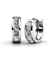Ladies earrings set with Swarovski crystal, Beautiful jewellery for women, Yolora