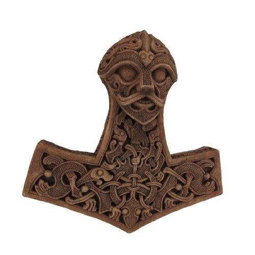 Preisvergleich Produktbild Holz-Finish Thor 's Hammer Wandschild Viking Pagan