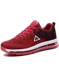Gfphfm Zapatos de los Hombres, 2019 Nuevas Zapatillas de Punto Casual Zapatos Academia Cordones Zapatos