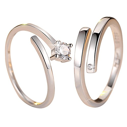 Adjustable Couple rings for couples ring for love engagement wedding gifts ring sets men womenSLALRG0319SL