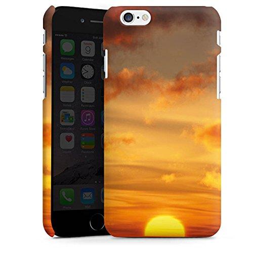 Apple iPhone X Silikon Hülle Case Schutzhülle Sonnenuntergang Himmel Wolken Premium Case matt