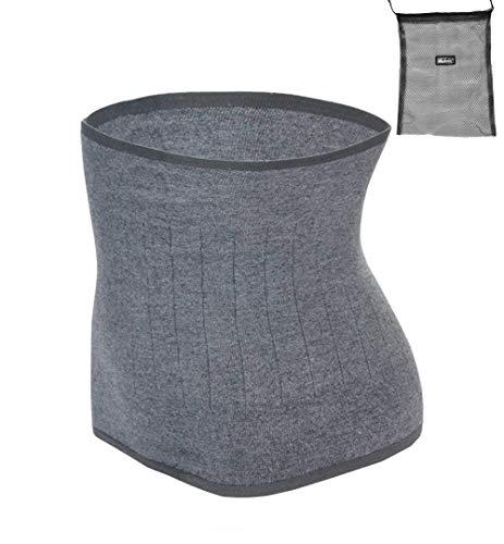 ITODA Wärmegürtel Unisex Rückenwärmer Winter Taillengürtel Nierenschutz Nierengurt Damen Herren Wärmeschutz Gürtel Nierenwärmer Taille Unterstützung Bauchgürtel für Erwachsene Jugendliche Grau M