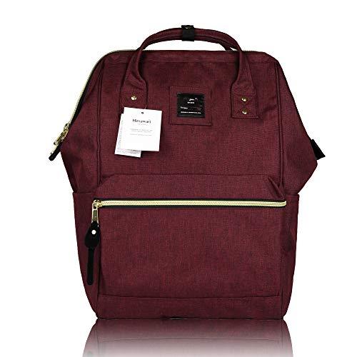 44 - Himawari - Mochila para la Escuela, Impermeable, Bolsa de Viaje Vintage para Mujer, portátil de 13 Pulgadas para Estudiantes Rojo Rojo 37CM