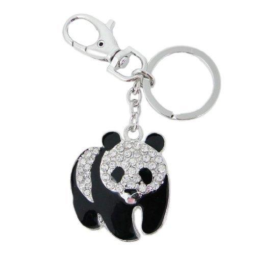 ever-faithr-plump-panda-keychain-clear-austrian-crystal-silver-tone-clear