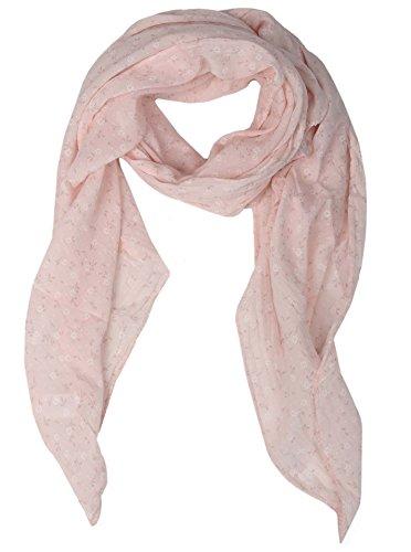 Seiden-Tuch Damen Blumen Muster - Made in Italy - Eleganter Sommer-Schal für Frauen - Hochwertiges Seidentuch / Seidenschal - Halstuch und Chiffon-Stola stilvolles Muster von Zwillingsherz rosa -