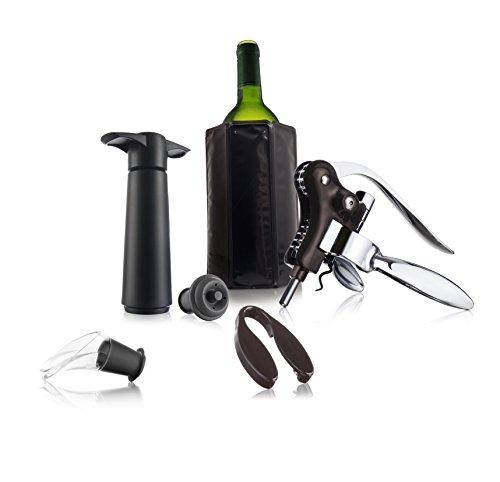 Vacu Vin Profesional - Set de vino, color negro