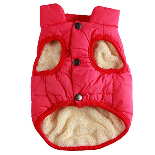 JoyDaog 2-lagige Hundejacke mit Fleece-Futter, besonders warm, für kalte Winter, extra weich, Winddicht, Hundemantel