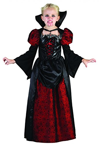 Generique - Vampir-Kostüm Halloween für Mädchen 134/140 (10-12 Jahre) (Vampire Für Halloween-kostüme)