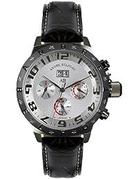 André Belfort 410131 - Reloj analógico de caballero automático con correa de piel negra - sumergible a 50 metros