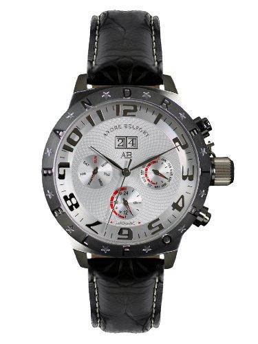 André Belfort Men's Aviateur Watch 410131 Silver Steel
