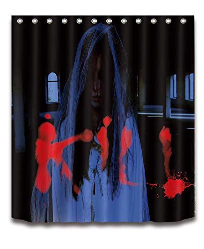 150cm x180cm Wasserdichtes Polyester Gewebe Badezimmer Duschvorhang Set mit Haken, Halloween Badezimmer Vorhang ()