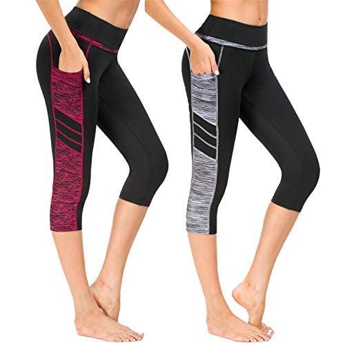 41I Cu0ksDL. SS500  - Flatik Womens Outdoor Capris Yoga Capris Leggings Workout Running Capri Pants