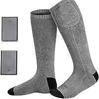 Calcetines Térmicos para Mujer Hombre Calentadores De Pies Lavable Protección contra el frío y Caliente Calefactable para Esquí Al Aire Libre, Heated Socks