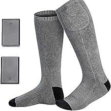Roful Calcetines Térmicos Mujer Hombre Calentadores Pies Lavable Protección contra El Frío Y Caliente Calefactable Esquí