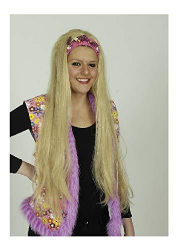 - Mädchen Blonde Hippie Perücke