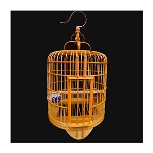 Gabbia Di Uccello Di Bambù Dell\'animale Domestico, Gabbia Di Uccello Dello Starling Gabbia Di Uccello Del Boutique Della Tigre Della Pelle Di Bambù Della Gabbia Di Uccello Di Chuan (Colore : A)