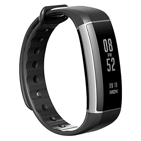 EIVOTOR Fitness Armband Fitness Tracker Smart Sport Watch Bluetooth 4.0 Smartband IP67 Wasserdicht Fitnessarmband unterstützt Pulsmesser,Schlafmonitor,Schrittzähler und Anrufer ID Benachrichtigung kompatibel mit Android Handy und IOS,iPhone für