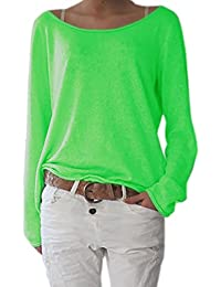 Langes Einfarbiges Hemd Dames Green Pieces