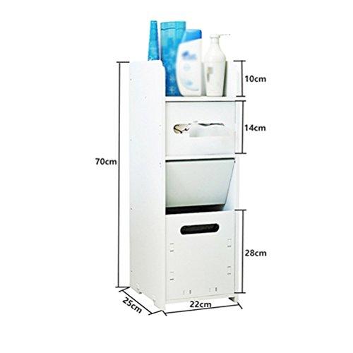 LUYIASI- Badezimmer-Regal Wc-seitliche Schränke Seitenschränke Wc-Wohnzimmer-Fußboden-Schließfächer Wasserdichte Toiletten-Speicher-Regale Shelf ( Farbe : C )